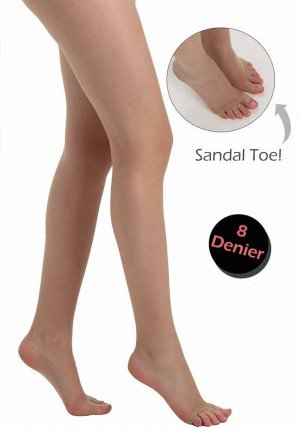 PLUS SIZE TOELESS TIGHTS