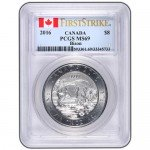 Silver Canadian Bison Coins