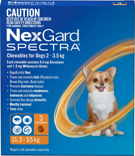 Nexgard Spectra for Dogs & Puppies