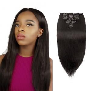 Virgin Brazilian Clip in Hair