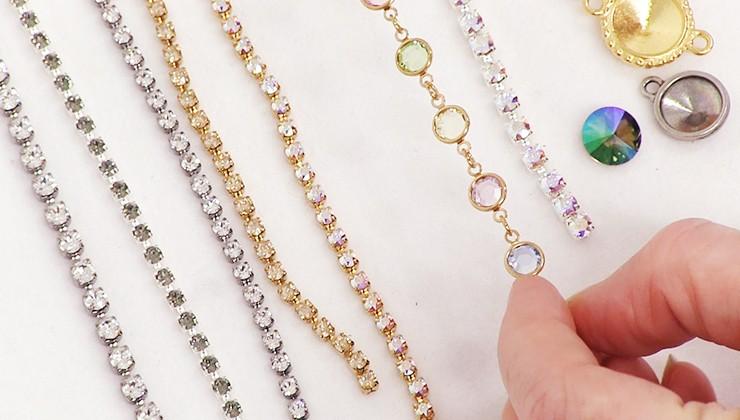 Swarovski Crystal Chain & Components