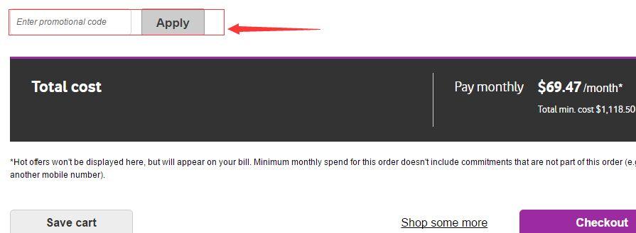 Vodafone AU Promotional Code