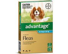 Advantage Aqua For Medium Dogs 4-10KG (6PK)