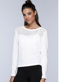 Crossover Cropped L/Slv Top