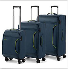 NEW Paklite Cruiselite Steel Expandable Spinner Case Set 3pce