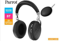 Parrot Zik 3 Wireless Headphones + Wireless Qi Charger - Overstitched Black
