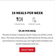 Musclegain Meals Plan: 18 Meals Per Week