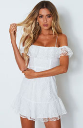 Midnight Kiss Mini Dress White