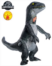 Jurassic World 2 Velociraptor Blue Inflatable Kids Costume